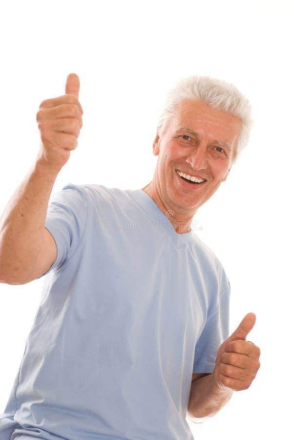 Starsza osoba szczęśliwy mężczyzna obraz royalty free