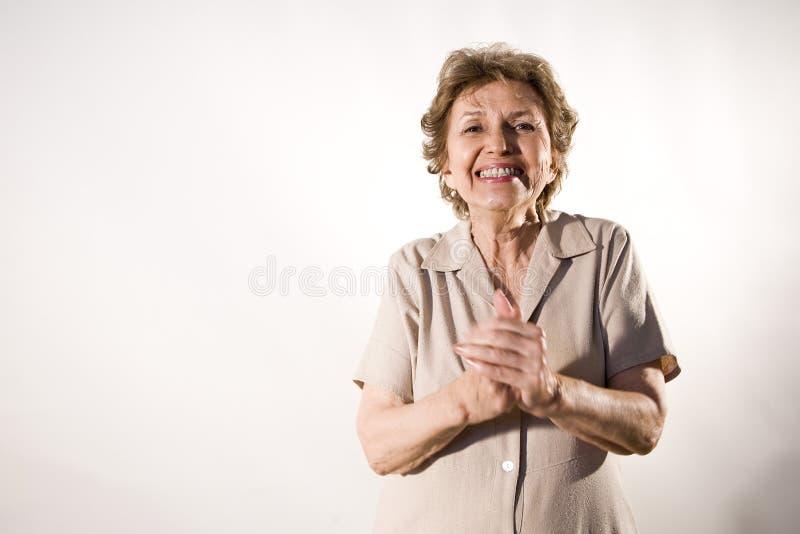 starsza szczęśliwa kobieta fotografia stock