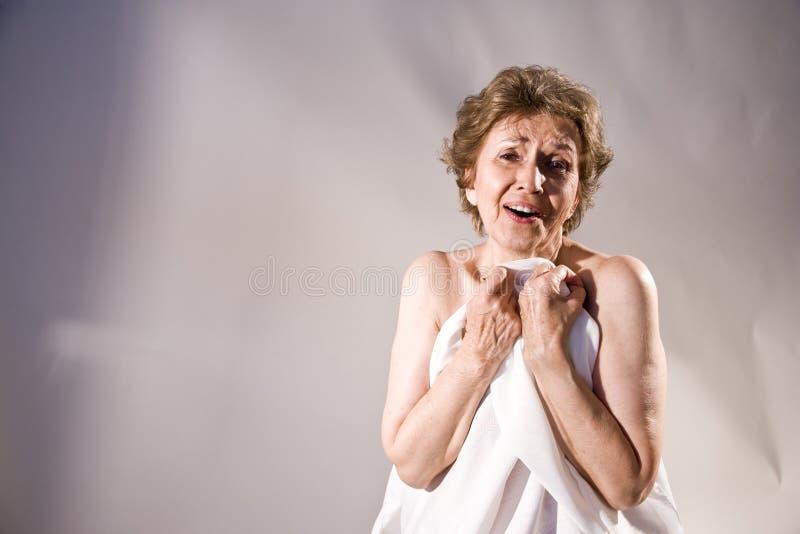 starsza szczęśliwa kobieta zdjęcie royalty free