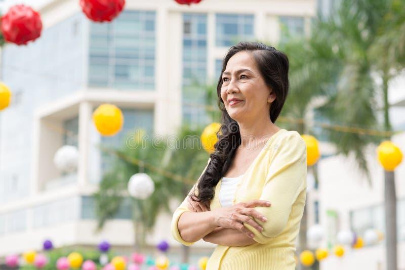 Starsza Wietnamska kobieta fotografia royalty free