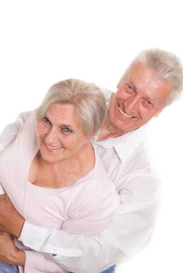 Starsze osoby dobierają się wpólnie fotografia royalty free
