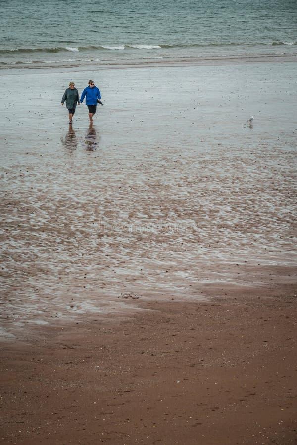 Starsze osoby na plaży fotografia royalty free