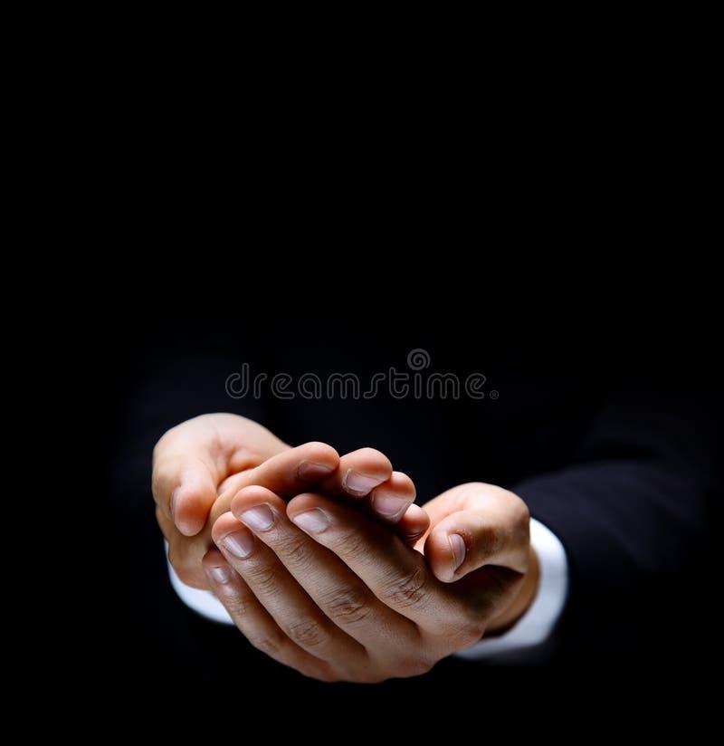 starsze osoby opróżniają ręka symbol obrazy stock