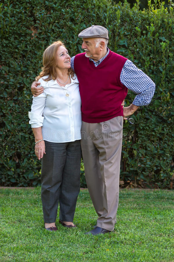 Starszego mężczyzna i seniora kobieta robi autoportretowi obraz stock