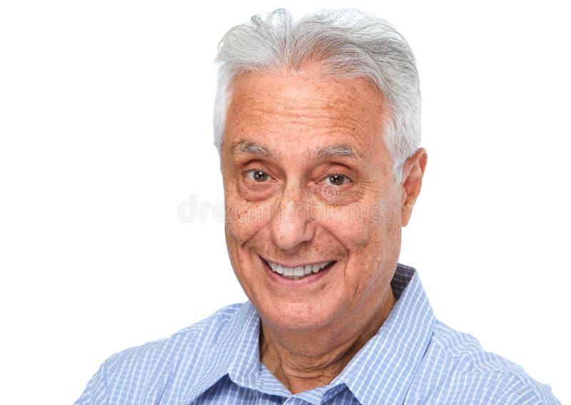 Starszego mężczyzna uśmiech fotografia stock