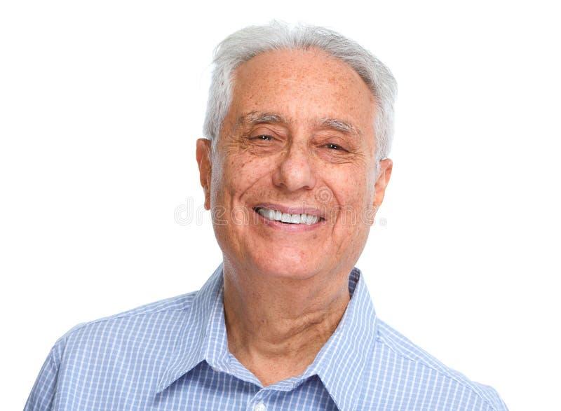 Starszego mężczyzna uśmiech zdjęcie stock