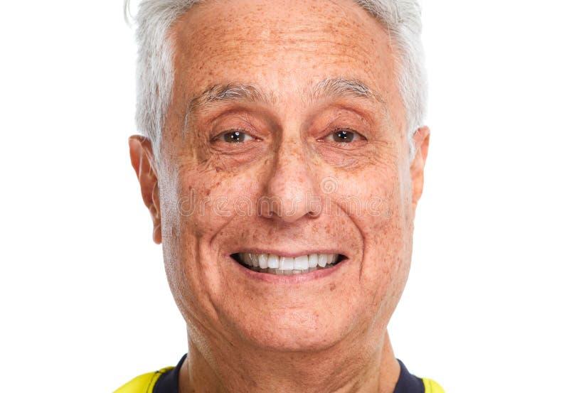 Starszego mężczyzna uśmiech zdjęcie royalty free