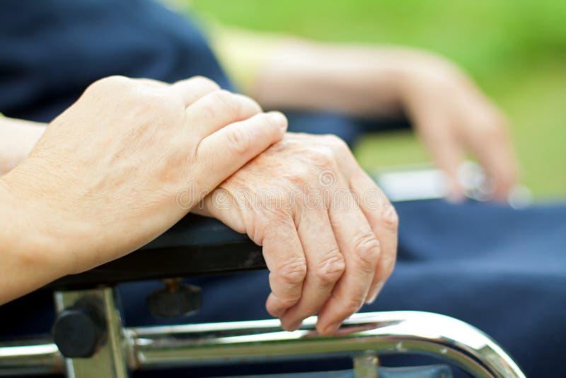 Starszej osoby opieka obrazy royalty free