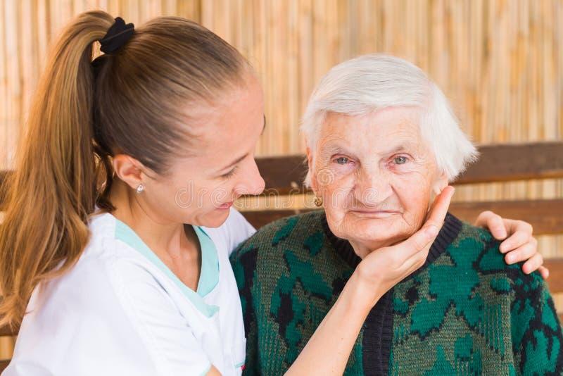 Starszej osoby opieka zdjęcie royalty free