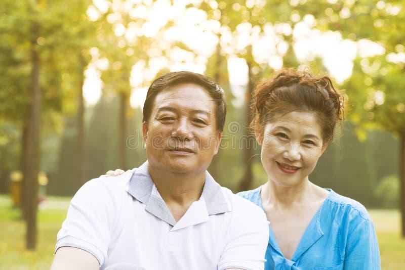 Starszej osoby pary portret fotografia royalty free