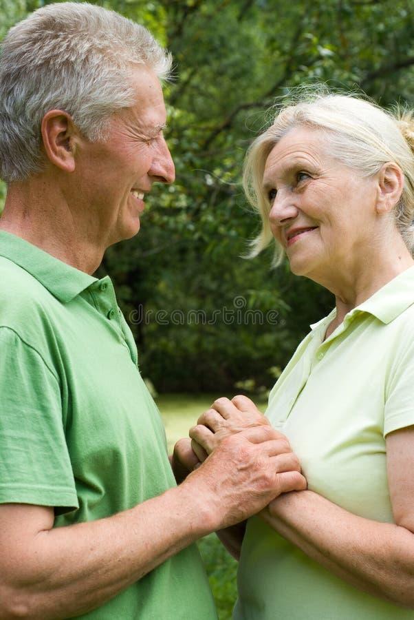Starszej osoby szczęśliwa para obraz royalty free