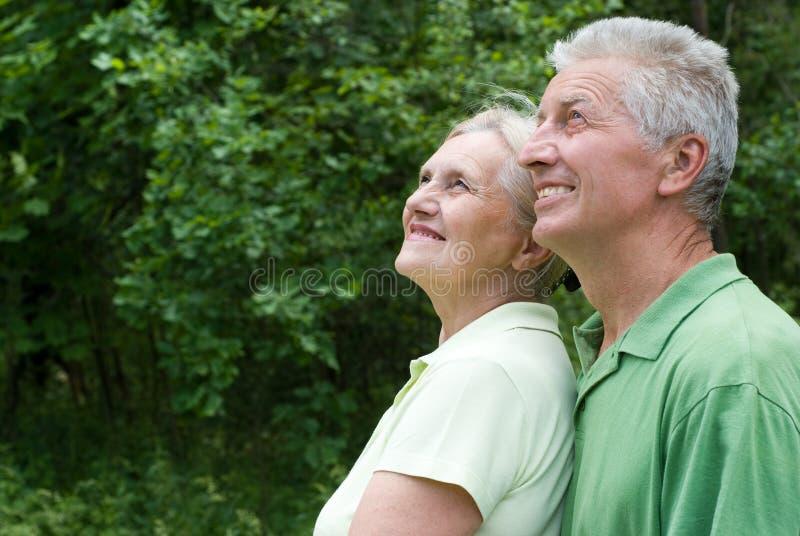Starszej osoby szczęśliwa para fotografia royalty free