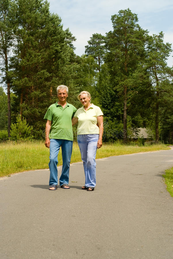 Starszej osoby szczęśliwa para zdjęcia royalty free