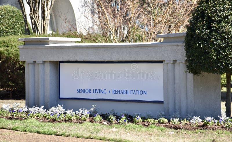 Starszy Żywy centrum rehabilitacji obraz royalty free