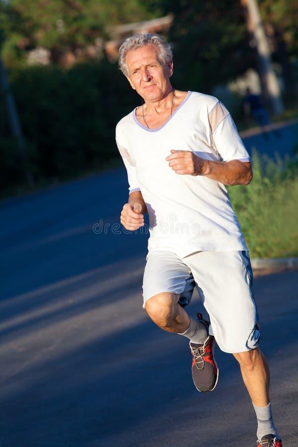 Starszy biegacz fotografia royalty free