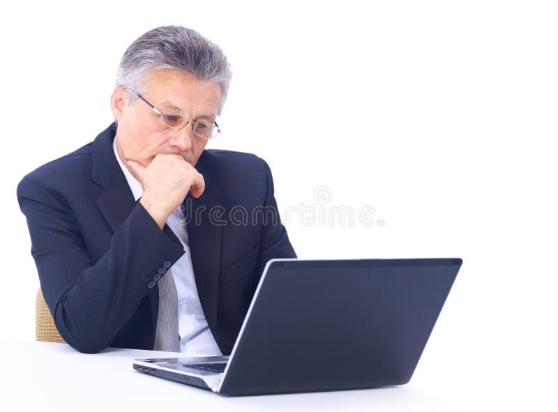 Starszy biznesowy mężczyzna zdjęcie stock