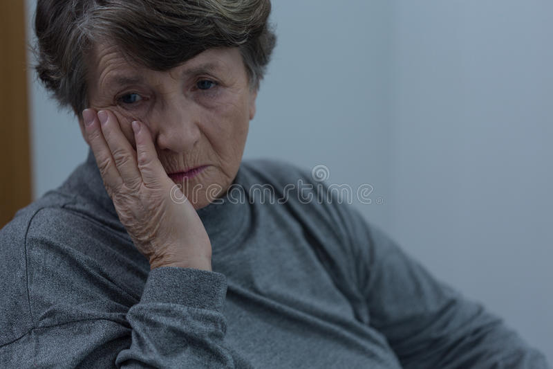 Starszy cierpienie dla depresji obrazy stock
