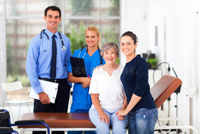 Starszy cierpliwy szpital fotografia stock