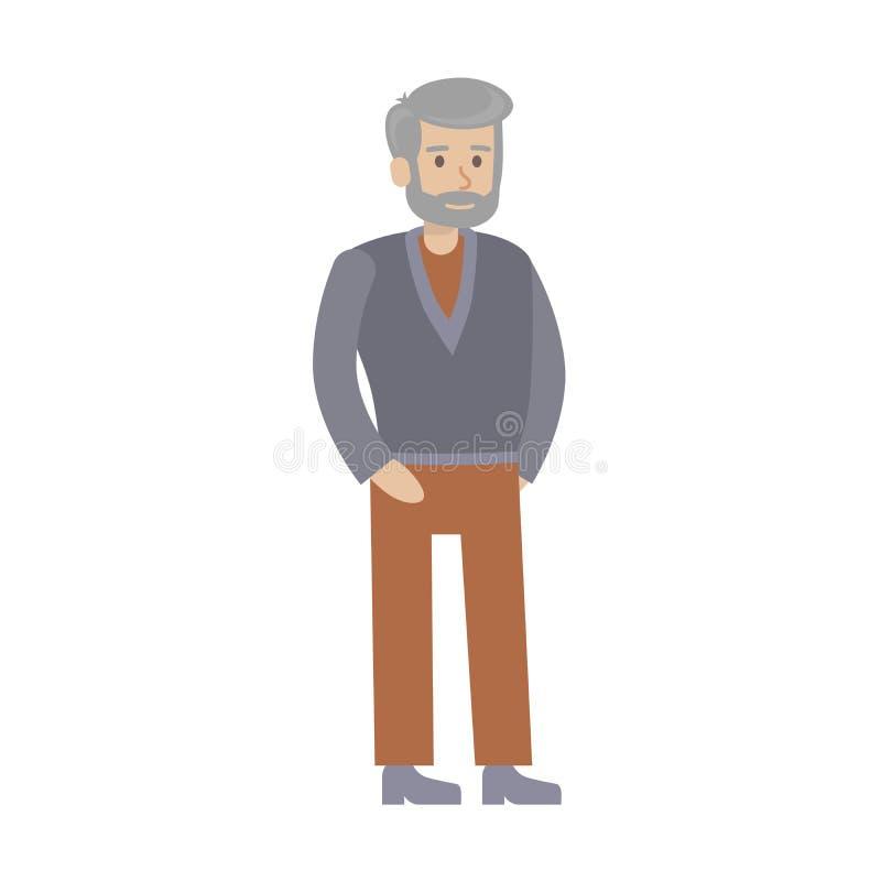 starszy człowiek ilustracja wektor