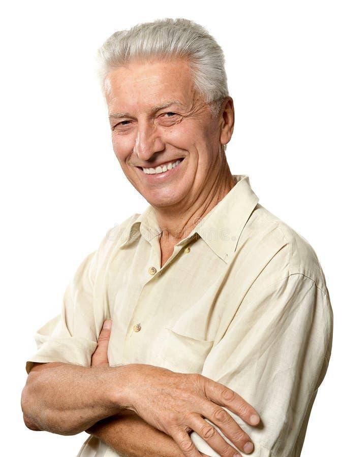starszy człowiek portret zdjęcie stock