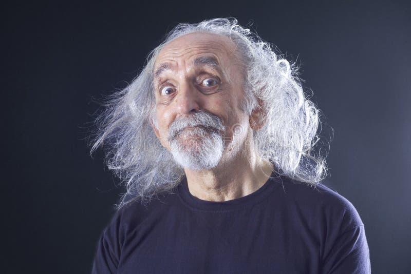 starszy człowiek portret obraz stock