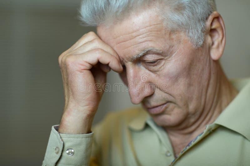 starszy człowiek portret fotografia royalty free