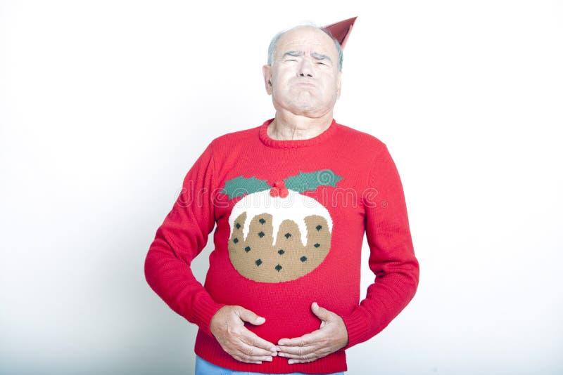 Starszy Dorosły mężczyzna wskazywanie że foluje up obrazy stock