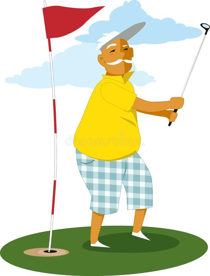 Starszy golfista ilustracji