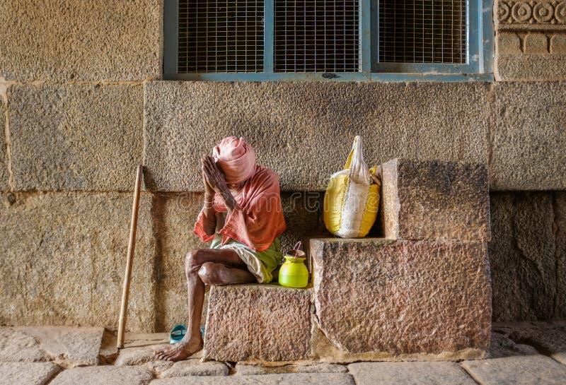 Starszy Indiański żebrak zdjęcia stock