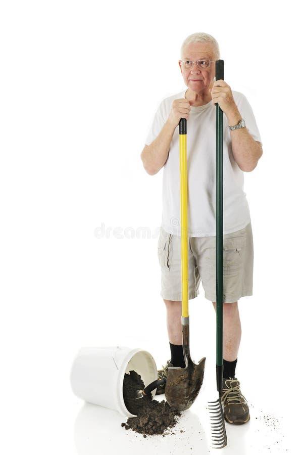 Starszy jarda pracownik zdjęcie stock