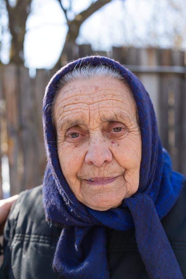 Starszy kobieta portret zdjęcia stock