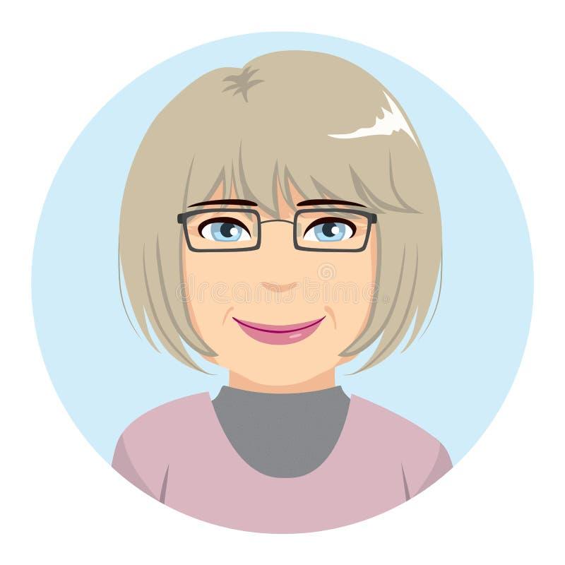 Starszy kobiety Avatar ilustracja wektor