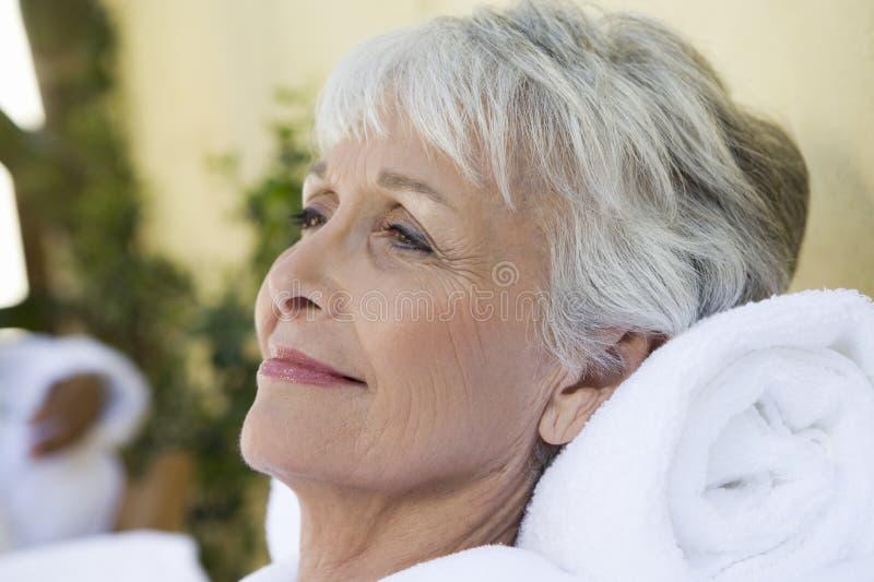 Starszy kobiety ono Uśmiecha się fotografia royalty free