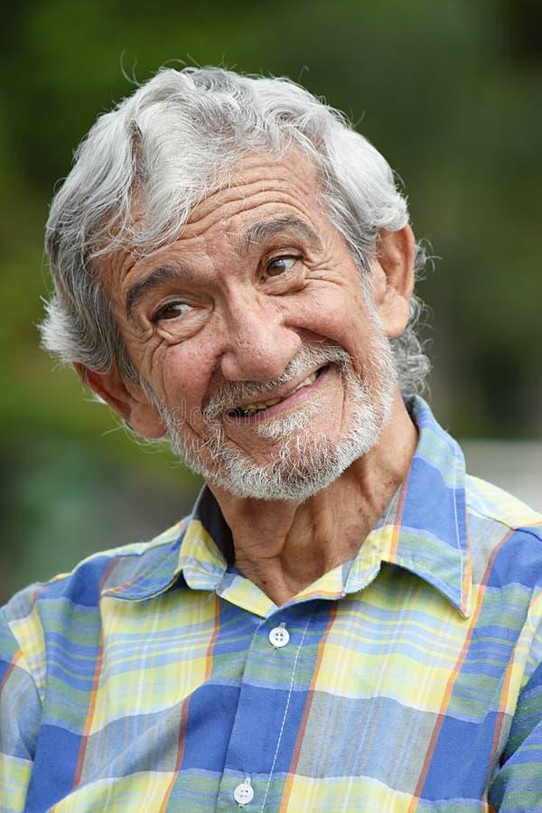Starszy Kolumbijski Męski portret obrazy royalty free