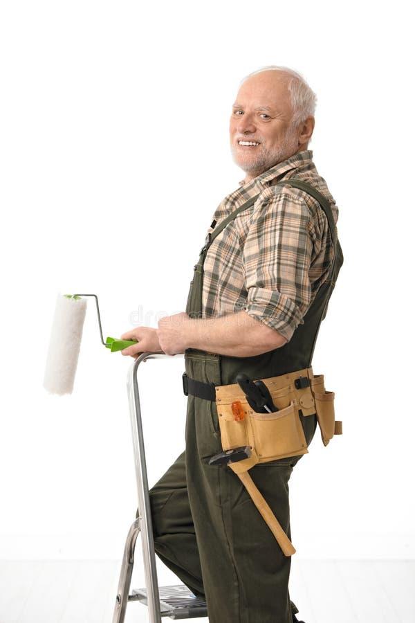 Starszy mężczyzna obrazu dom obrazy royalty free