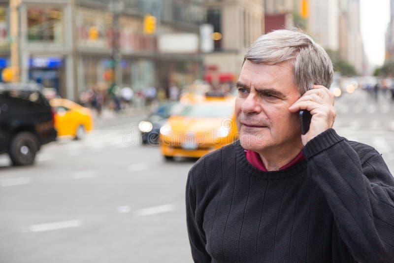 Starszy mężczyzna w Nowy Jork zdjęcie stock