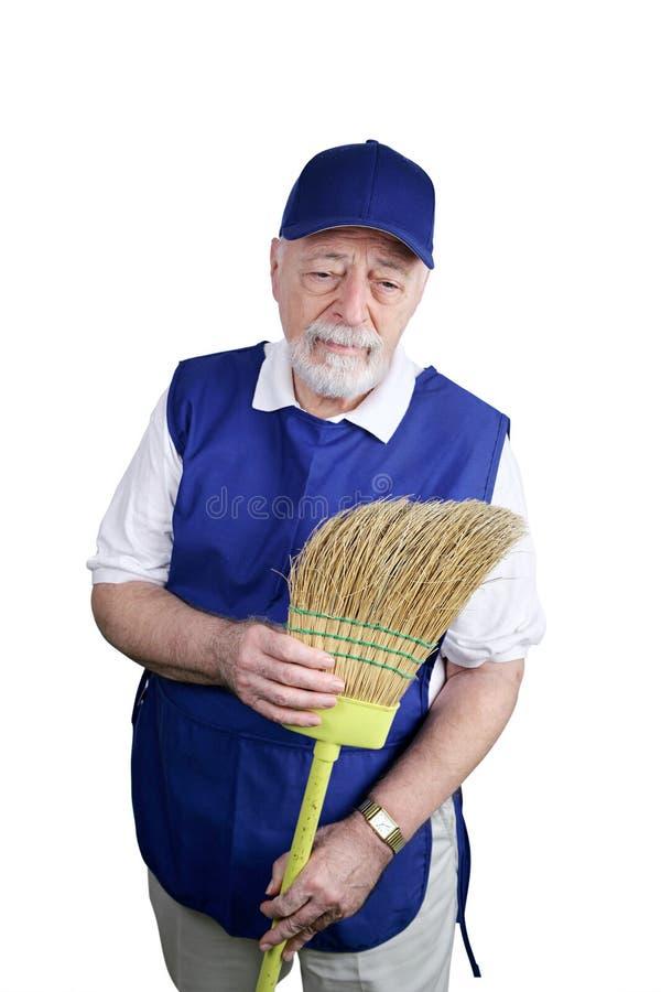 starszy pracownika przygnębiony zdjęcia stock
