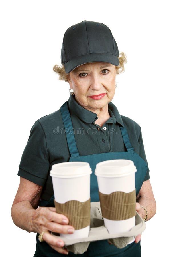 starszy pracownika smutny zdjęcie stock