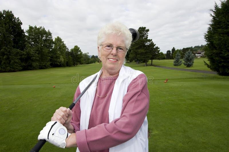starszy prawdziwy golfiarz zdjęcie royalty free
