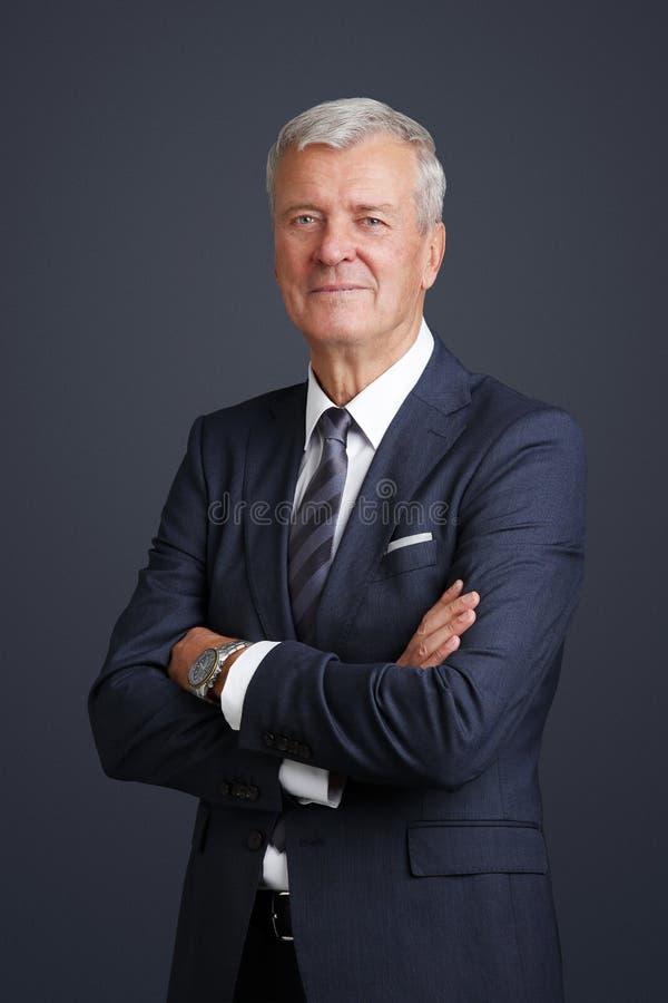 Starszy prawnika portret zdjęcia stock