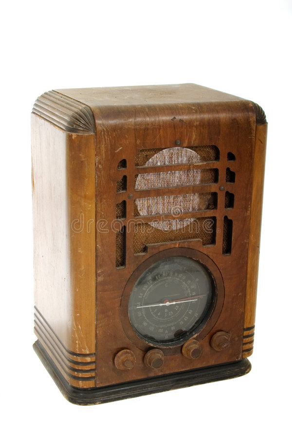 starszy rocznik radiowego zdjęcia stock