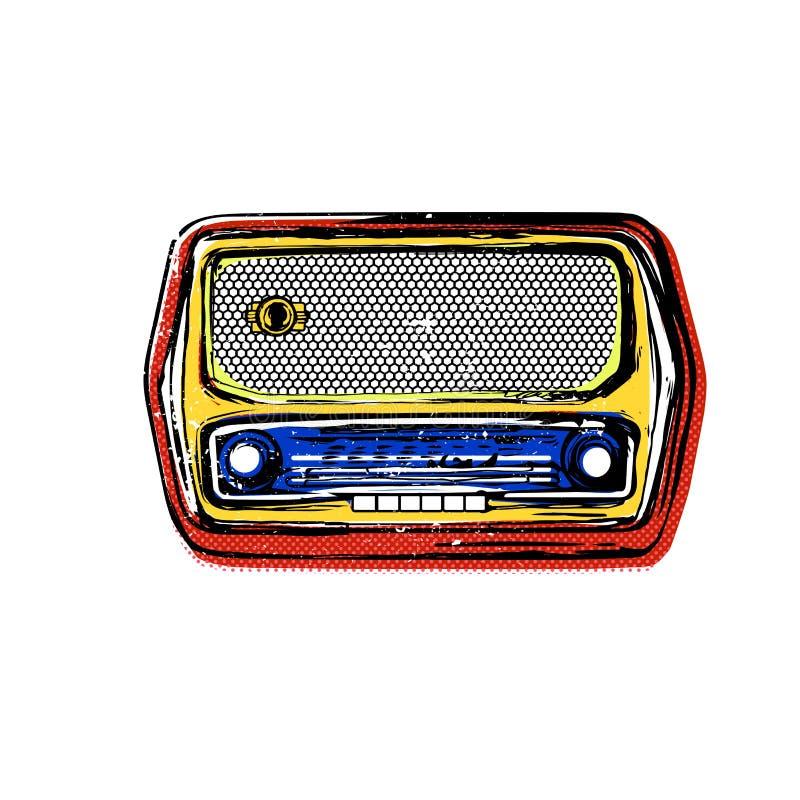starszy rocznik radiowego fotografia royalty free