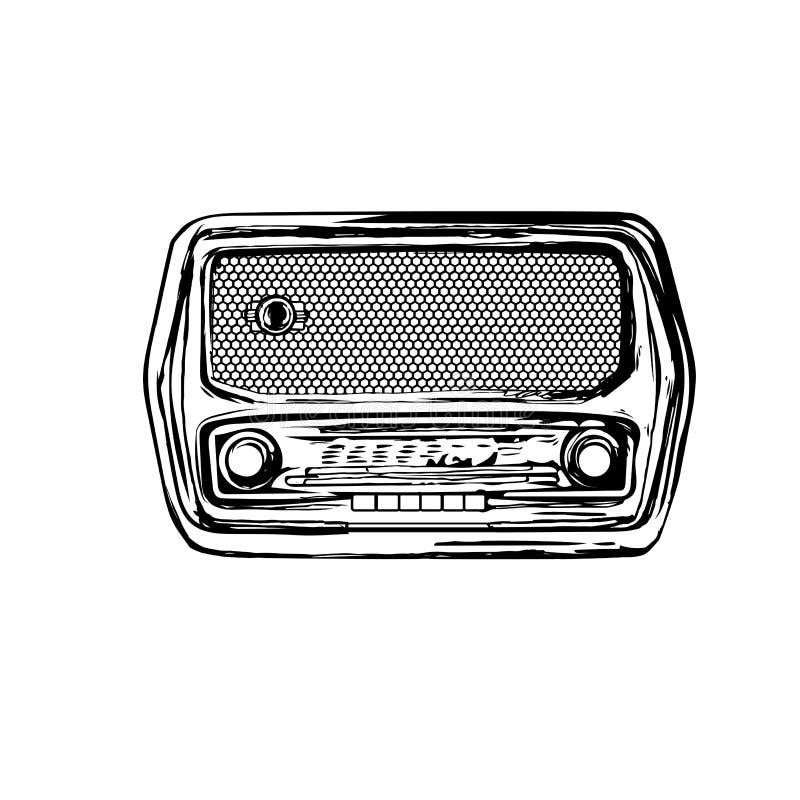 starszy rocznik radiowego zdjęcie stock
