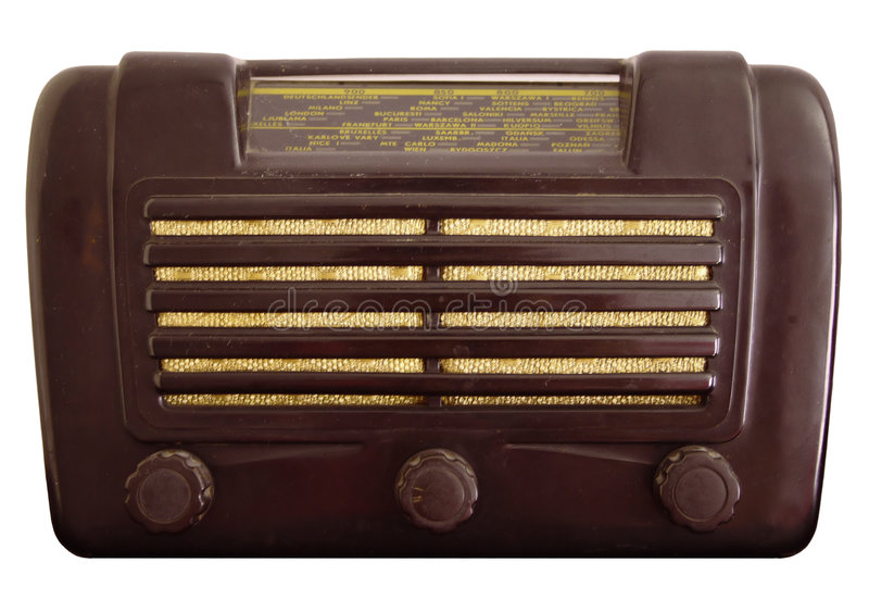 starszy rocznik radiowego obrazy stock