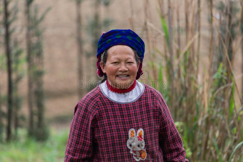 Starszy rolniczy pracownik Wietnam obrazy stock