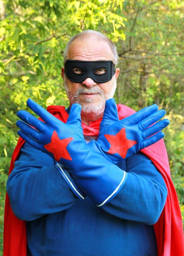 Starszy super bohater zdjęcia stock