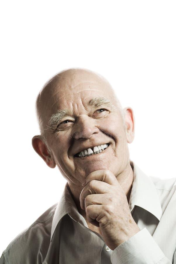 starszy szczęśliwy zdjęcie royalty free