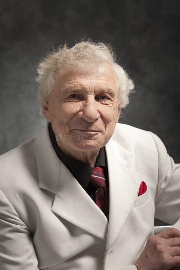 Starszy szczęśliwy mężczyzna zdjęcia stock