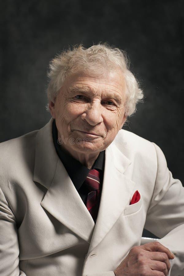 Starszy szczęśliwy mężczyzna fotografia stock