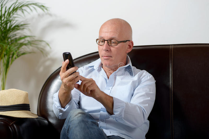 Starszy telefon obraz royalty free